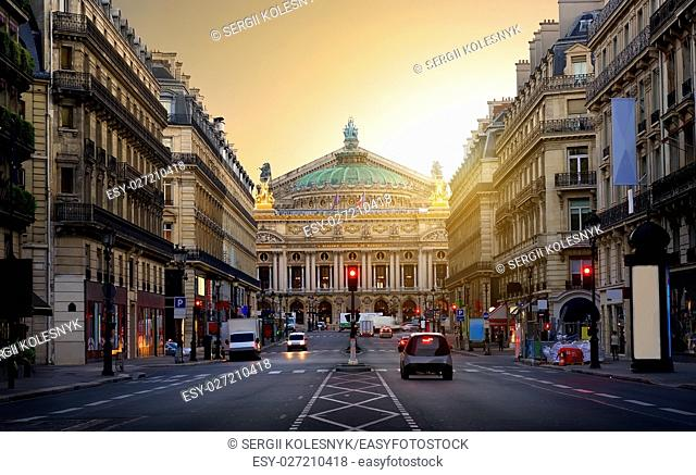 Majestic building of Grand Opera in Paris, France