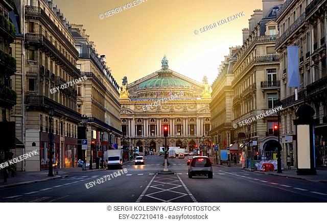 Majestic building of Grand Opera in Paris, France