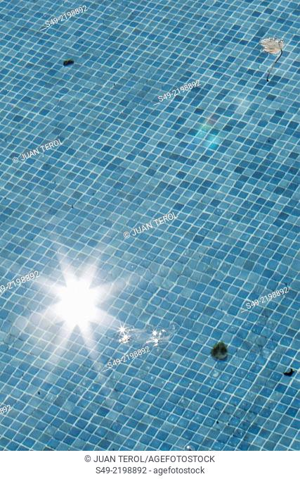 Vertical Swimming Pool Water Background