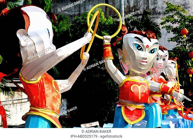 Thailand Phuket Phuket Town Chinese New Year 2016