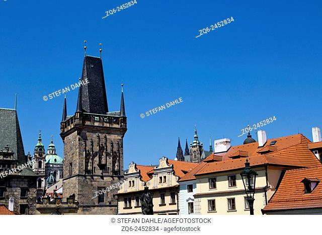 Tower of the Charles Bridge in Prague, Czechia
