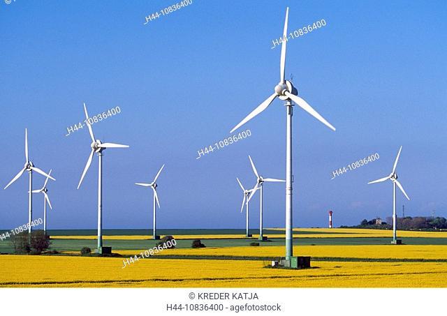 Germany, Europe, Fehmarn island, Schleswig-Holstein, Europe, yellow, island, landscape, Baltic Sea, Rape fields, field