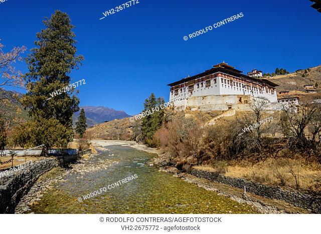 Paro Dzong and river, Bhutan