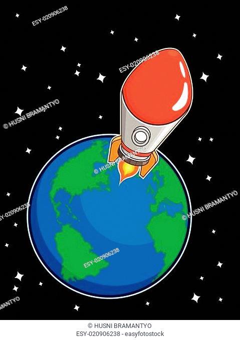 Rocket Fly from Earth