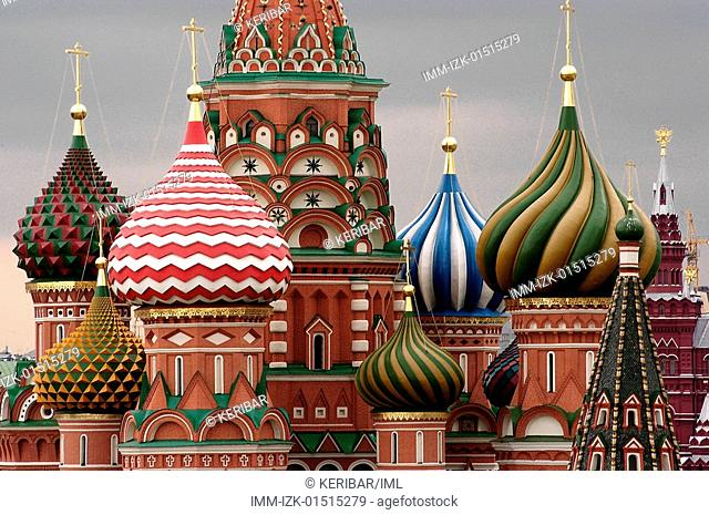 Red Square, St Basil's Cathedral, Moscow, Russia, Europe