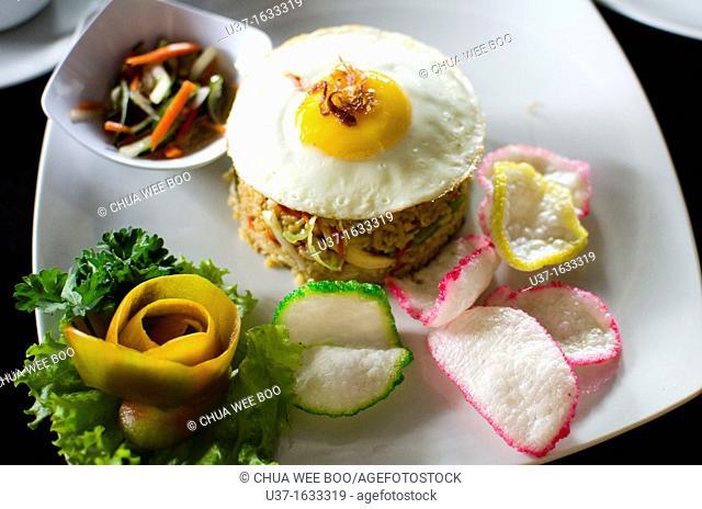 Indonesian fried rice, Seminyak Road, Bali, Indonesia