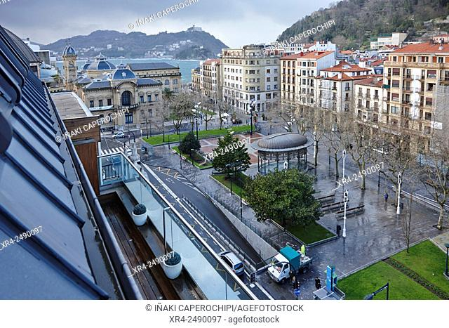 Boulevard Zumardia, San Sebastian, Donostia, Basque Country, Spain