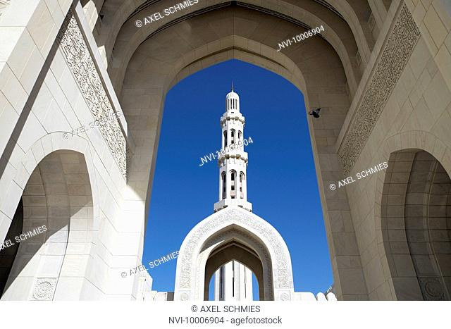 Patio, Sultan Qaboos Grand Mosque, Muscat, Sultanate of Oman, Middle East