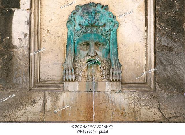 antique Roman fountain