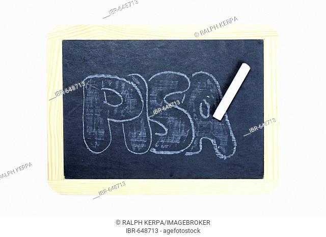 Pisa written on a chalkboard