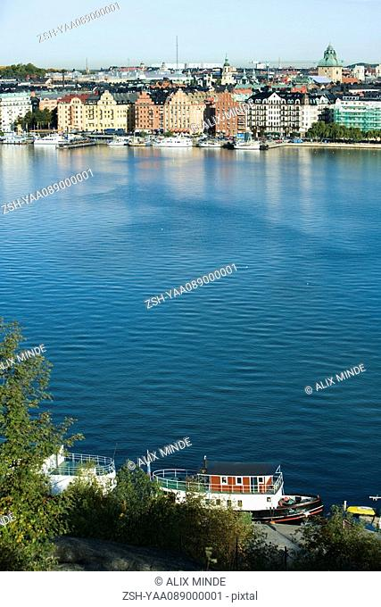 Sweden, Sodermanland, Stockholm, view of waterfront