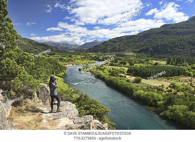 View of the majestic Futaleufú River, Futaleufú Reserve, Patagonia, Chile
