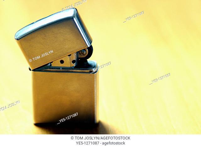 Refillable lighter close up