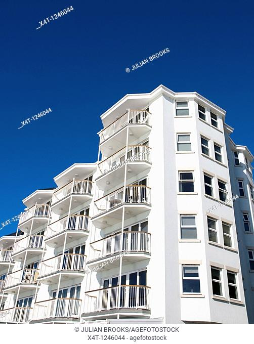 Modern holiday apartments at Ventnor, on the Isle of Wight