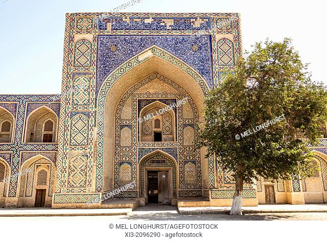 Modari Khan Madrasah, also known as Modarixon Madrasah, Bukhara, Uzbekistan