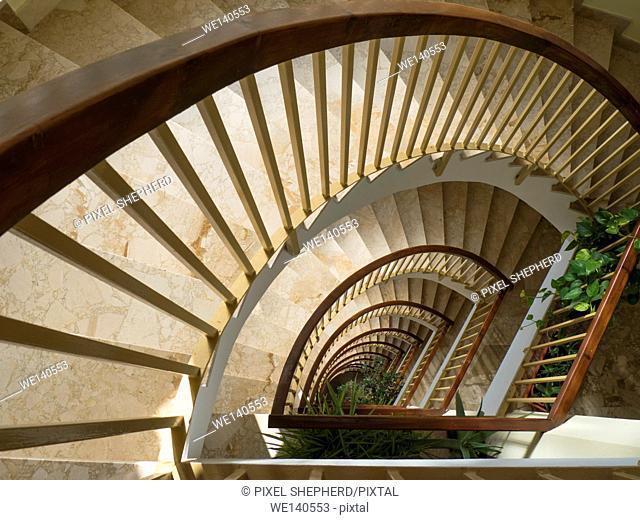 stairwell looking down