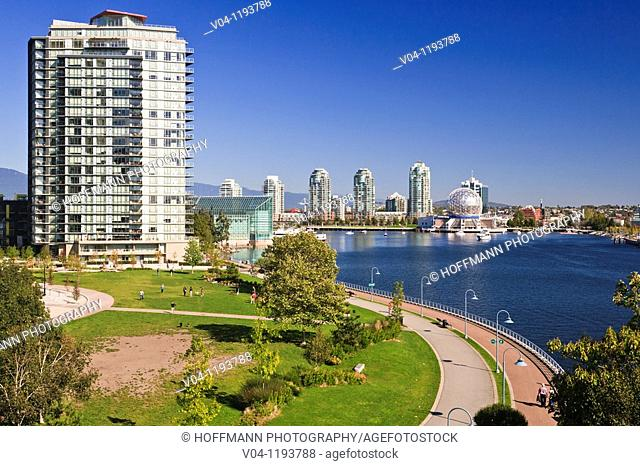 World Science Center and skyline of Vancouver, British Columbia, Canada