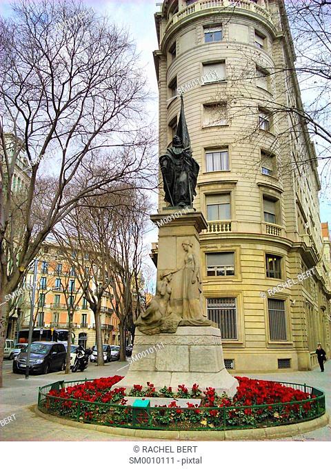 Monument to Rafael de Casanovas. Barcelona, Catalonia