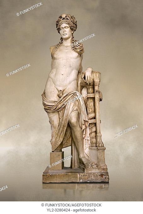 Second Century Roman statue of Apollo excavated from the Theatre of Carthage. The Bardo National Museum, Tunis, Tunisia. Inv No C939