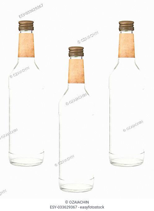 Bottles of vodka isolated