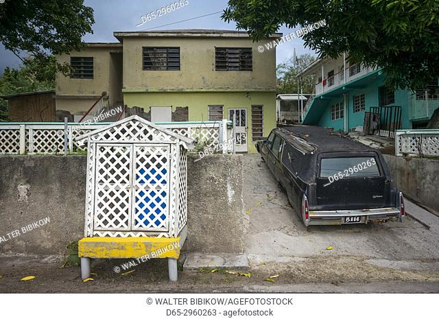 St. Kitts and Nevis, Nevis, Webbs Grounds, hearse