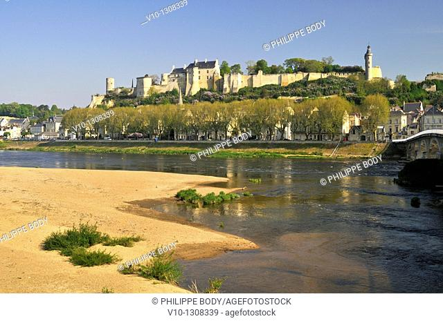 France, Indre et Loire, Chinon on the world Heritage List of UNESCO, castle of Chinon
