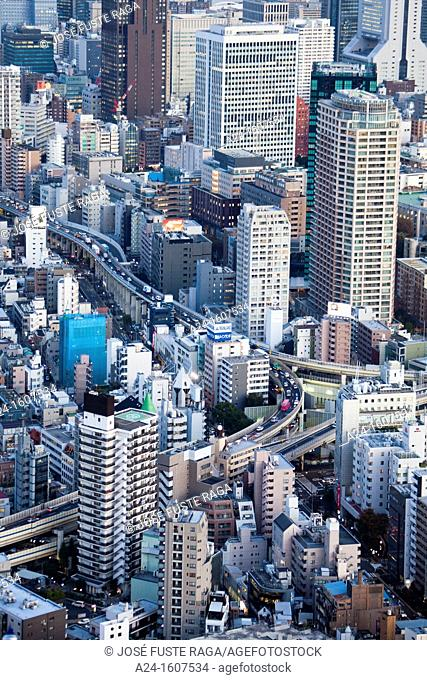 Japan-Tokyo City-Shuto Expressway through Central Tokyo