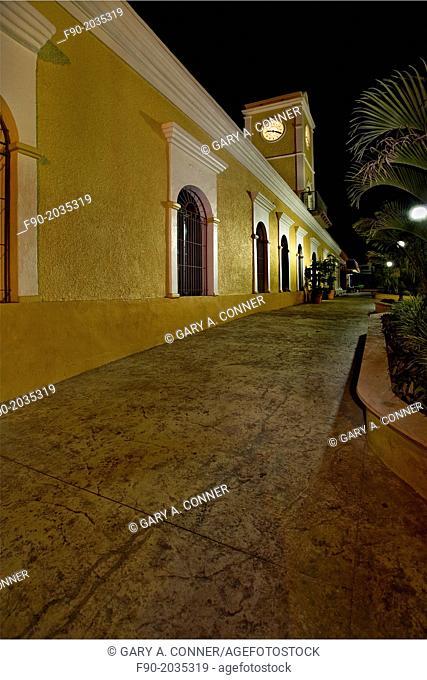 Municipal building in the evening , San Jose del Cabo, Mexico