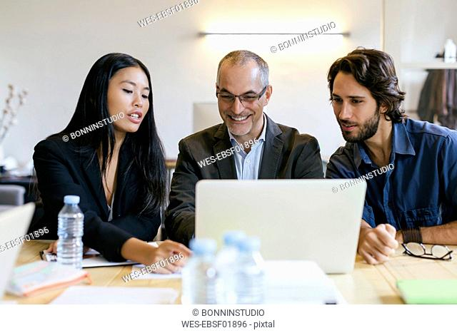 Business people having a meeting in office