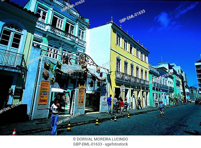 Store, People, Sé Square, Salvador, Bahia, Brazil