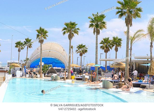 Marina Beach Club, hotel complex located in the Marina Real Juan Carlos I, Port of Valencia, Valencia, Spain, Europe