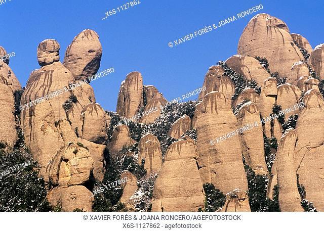 Les Agulles, Natural Park of Montserrat mountain, Barcelona, Spain