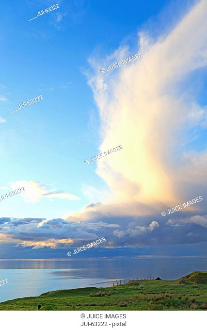 Dramatic sky over sea