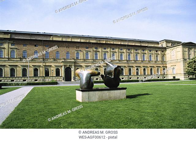Germany, Munich, Old Pinakothek, Northern facade