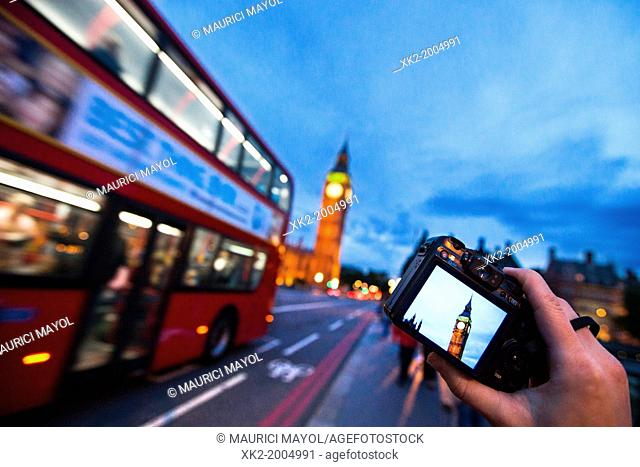 Taking pictures of Big Ben, London, UK