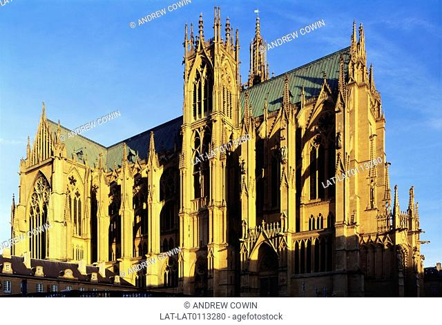 St. Etiennes Cathedral was formed in the 14th Century by joining the nave of Saint-Etienne,built in the 13th century,to the north side of an older Romanesque...