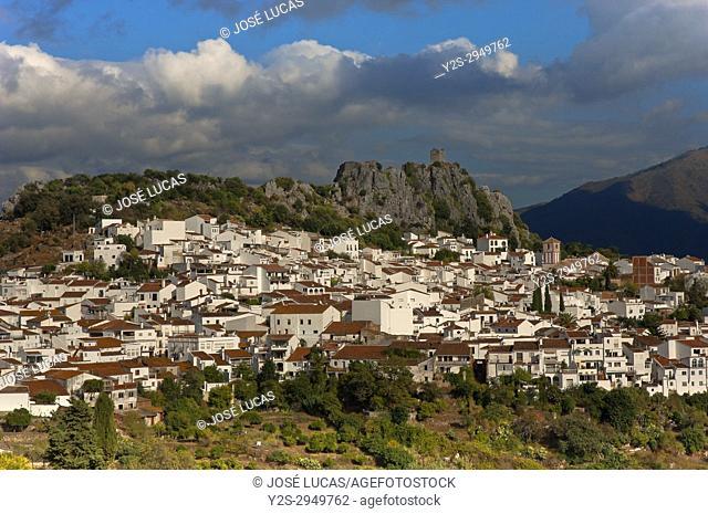 Panoramic view, Gaucin, Malaga province, Region of Andalusia, Spain, Europe