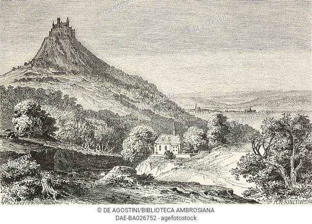Hohenzollern castle, Germany, from Causeries de voyage: de Paris a Vienne (1860) by Victor Duruy (1811-1894), from Il Giro del mondo (World Tour)