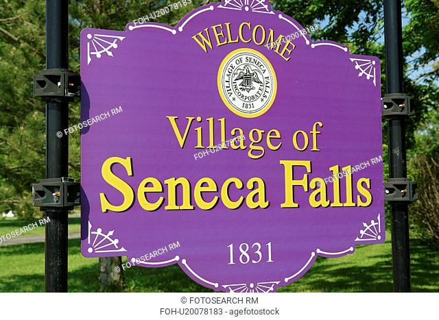Seneca Falls, NY, New York, Finger Lakes, Welcome sign