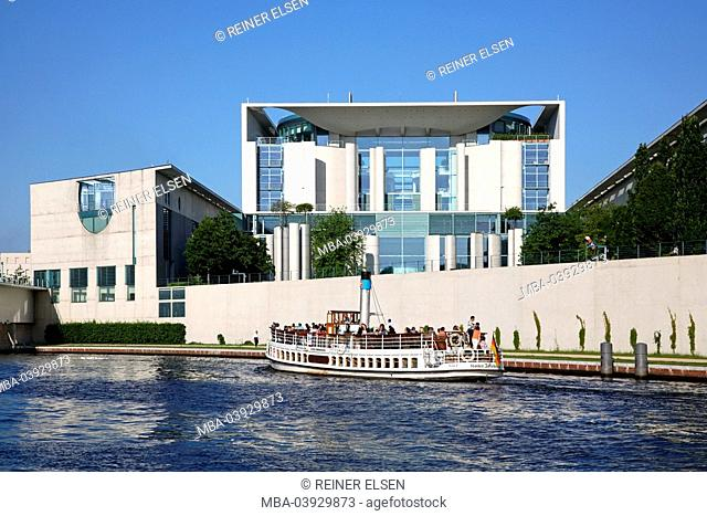 Germany, Berlin, Spree, chancellory