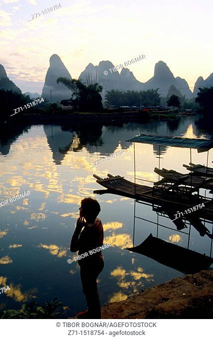 Li River area, scenery, Yangshuo, Guangxi Province, China