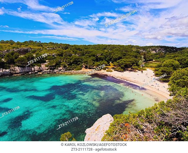 Cala Macarella on Menorca, Balearic Islands, Spain