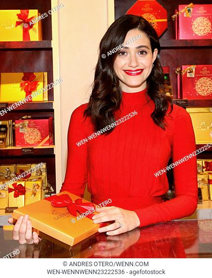 Actress Emmy Rossum attends the 'Hot Chocolate For A Cause' event at Godiva Featuring: Emmy Rossum Where: New York, New York