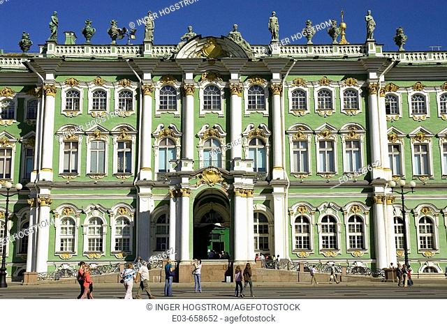 Russia. St Petersburg. Winter Palace. Hermitage Museum