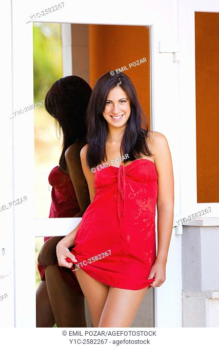 Seductive in Red dress