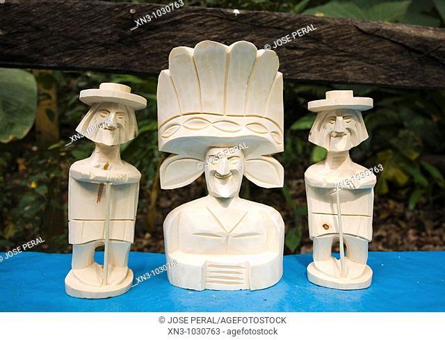 Craft typical in Barranca Del Cupatitzio National Park. Uruapan. Michoacan State. Mexico