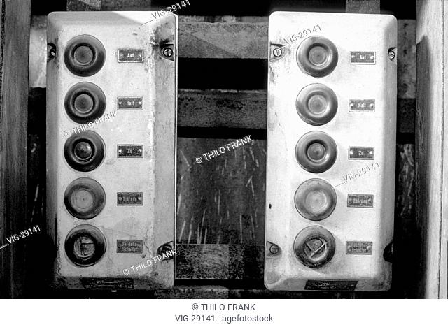 Switch board for a blast furnace in a disused thermal power station. - VOCKERODE, GERMANY, 15/09/2001