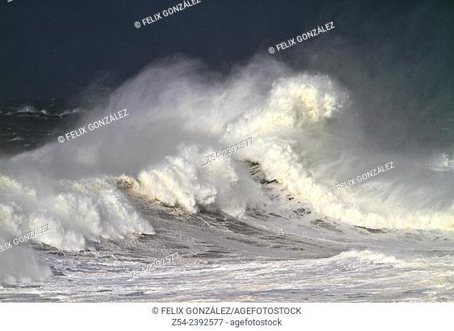 Waves at Llanes Coast, Asturias Spain