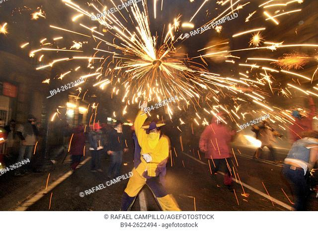 'Correfocs', La Merce festival, Barcelona, Catalonia, Spain