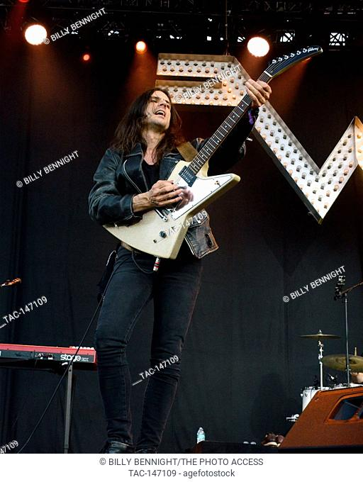 Brian Bell of Weezer performs onstage during Arroyo Seco Weekend on June 25, 2017 at the Brookside Golf Course in Pasadena, California